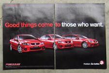 HOLDEN VE COMMODORE REDLINE Ute Sedan Auto Magazine Page Sales Advertisement
