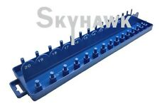 "3/8"" DR. METRIC SOCKET TRAY RACK RAIL HOLDER HOLDS 30 SOCKETS Deep & Shallow"