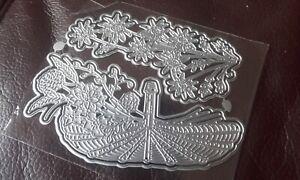 Metal Cutting Dies, Floral Basket - works with carnation crafts