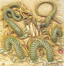 Sea Serpent & Puffins Nessie's Nook Tile Harmony Kingdom Noah's Park Picturesque