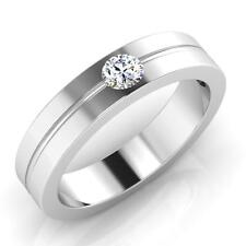Ebay 0.24ct Real Diamond Mens Rings Fine 14Kt Gold Round Wedding Band Size M P N