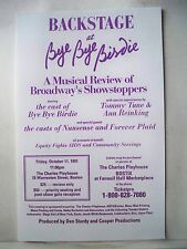 BACKSTAGE AT BYE BYE BIRDIE Herald TOMMY TUNE / ANN REINKING Boston MA 1991
