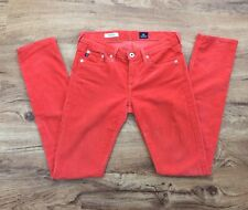 AG Adriano Goldschmied The Stevie Corduroy Slim Straight Pants US Made Women 26R