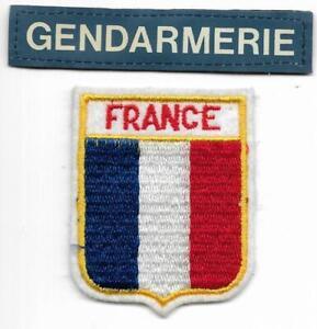 FRANKREICH  2 Teile Police Patch GENDARMERIE  Polizei Abzeichen France PARIS