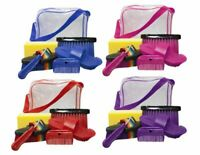Showman 6 Piece Horse Grooming Kit w/ Plastic Carrying Bag