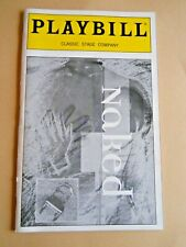 April 2000 - Classic Stage Company Theatre Playbill - Naked