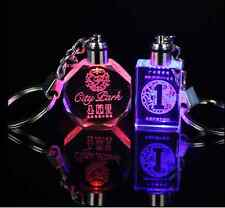 Lot 50 Wholesale Personalized Crystal Laser Etched Engraving Keychain &LED Light