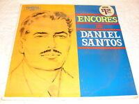 "Daniel Santos ""Encores de..."" 1960's Latin LP, SEALED!, Orig Tropical Pressing"