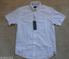Marks and Spencer Short Sleeve Checked Formal Shirts for Men