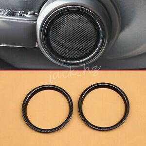 For Mini Cooper 2-Door 2015-2020 Carbon Fiber Interior Door Speaker Ring Trims