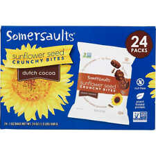 Somersaults Sunflower Seed Crunchy Bites, Dutch Cocoa, 1 oz, 24 ct