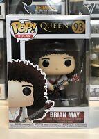 ⭐️Queen- Brian May #93 POP ROCKS Funko Pop + Pop Protector⭐️