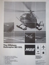 7/1982 PUB MBB BO 105 OFFSHORE HELICOPTER HUBSCHRAUBER HELICOPTERE ORIGINAL AD