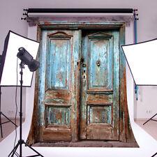 5X7FT Retro Wood Door VINYL BACKDROP Photography Studio Prop Background PJ110
