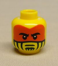 x1 NEW Lego Minifig Head with Face Paint with Red War Paint Pattern