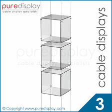Window Wire Display Cube - Cable Set  3 Clear Cube
