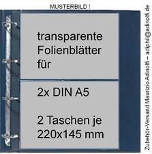 Folienblätter für DIN A5 Postkarten Autogrammkarten ETB 10er-Pack (SAFE 5490)