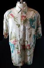 VTG Tori Richard Hawaiian Shirt Rayon Floral Print Size L