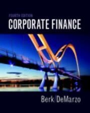 Corporate Finance by Peter DeMarzo and Jonathan Berk (2016, Hardcover)