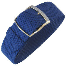 20mm EULIT Panama Royal Blue Tropic Woven Nylon Perlon German Watch Band Strap