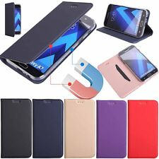 For iPhone 8 X Samsung S8 S7 Phone Slim Flip Leather Magnetic Wallet Case Cover