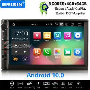 8-Core Android 10.0 Universal 2Din DSP Car Stereo DAB+ Satnav DVB-T CarPlay WiFi