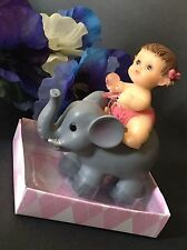 1-Baby Shower Favors It's A Girl Party Baby Decorations Elephant Cake Topper