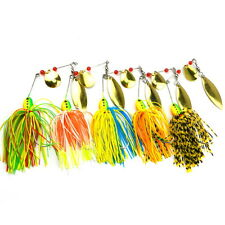 5pcs/Lot Sinking Fishing Lures Spinner Bass Paillette Treble Tackle Crank Bait