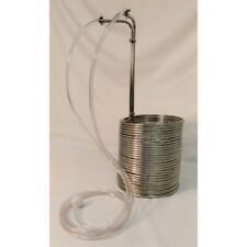 NY Brew Supply 75' Deluxe Stainless Steel Wort Chiller with Vinyl Tubing Kit