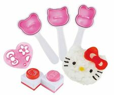 Hello Kitty Onigiri kit Rice Ball Molds Face punches and a cutter from Japan