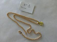collier Chaîne PO jaune Torsadé  longueur 50 cm diam 2.3 fd de stock fab FRANCE