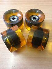 BN rétro mini cruiser skateboard roues de roulements gratuit 59mm / 78 bis noir goldclear