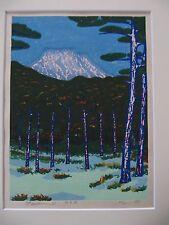 Japanese  Woodblock Print - Nakao Yoshitaka  - fuji in distance