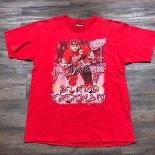 VTG Detroit Red Wings Steve Yzerman NHL Hockey Red Men's XL T-Shirt C66