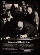 "1969 Brunswick Pool Tables ""Shoot-Out At 315 Poplar Dr"" Hustlers Sharks Print Ad"