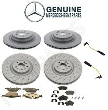Genuine Front & Rear Disc Brake Rotors Pads & Sensors For Mercedes W166 GL550