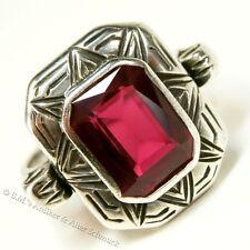 original um 1925 antiker Art Deco Ring 835 Silber Spinell Top-Zustand 18,4 / 58