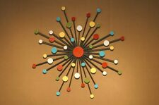 Abstract Metal Sculpture Wall Art Mid Century Modern Sunburst Atomic Retro
