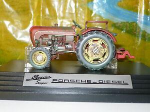 SIKU Tracteur PORSCHE-DIESEL Super 308, ref 4458, échelle 1/32 + boîte