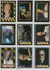 1986 MAX HEADROOM COMPLETE BASIC TRADING CARDS WITH FOILS