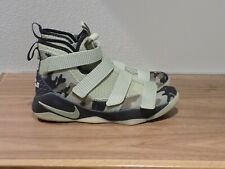 NIKE LeBron Soldier 11 GS 'Olive' 918369-200 Size Youth 6/Women 7.5/Men 6