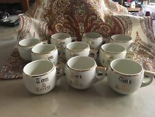 10 Vintage Hall Tom and Jerry Ball Shaped Mug Punch Cup Gold trim