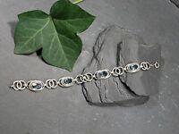 Hübsches Silber Armband Ringe Vintage Jugendstil Art Deco Aquamarin Blautopas