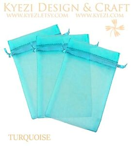 """4""""x6"""" Sheer Drawstring Organza Bags Jewelry Pouches Wedding Party Favor Gift Bag"""