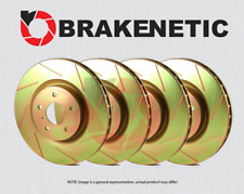 FRONT + REAR BRAKENETIC SPORT SLOTTED Brake Disc Rotors BSR79429