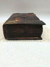 antike Bibel Holzeinband Metallschließen Leder 1564 / 1659 Balthasar Kühne Ulm
