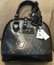 NWT DISNEY BOUTIQUE PARKS MINNIE MOUSE PURSE SATCHEL  PEWTER GRAY BLACK SOLD OUT