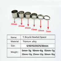 """Titanium/Ti Spacer 1-1/8""""(5-10-15-20-25-30mm) for Headset&Stem front fork"""