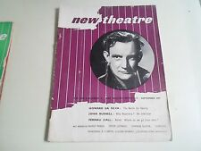 NEW THEATRE Vintage Magazine September 1947 John Burrell+Howard Da Silva +More