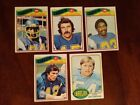 5 Card Lot of 1976-77 Topps San Diego Chargers Football Cards, Rickey Young